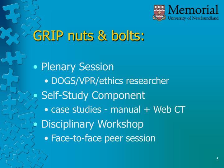 GRIP nuts & bolts: