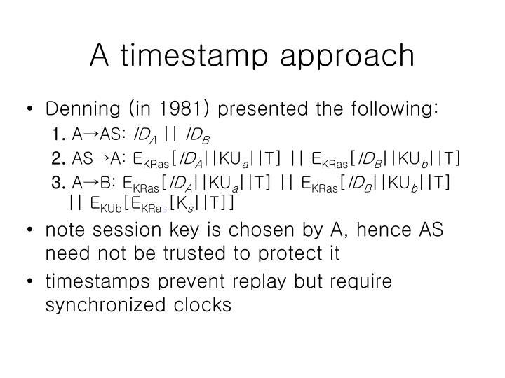 A timestamp approach