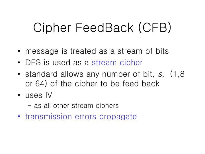 Cipher FeedBack (CFB)