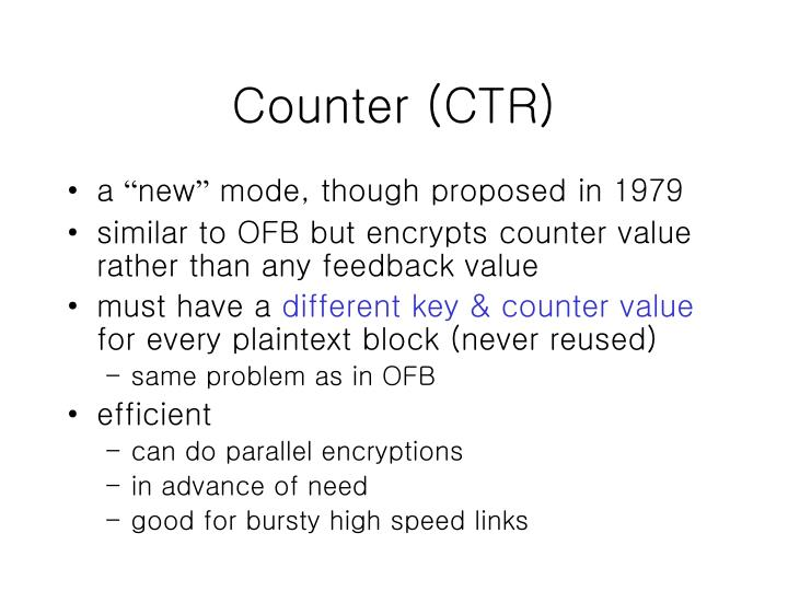 Counter (CTR)