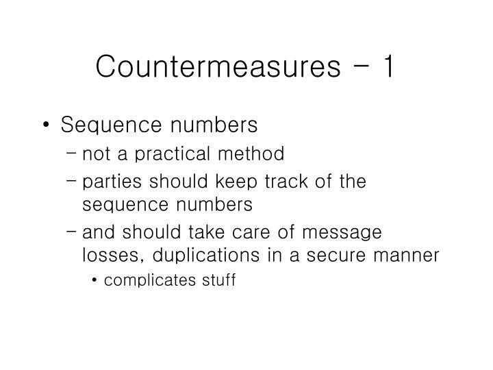 Countermeasures - 1