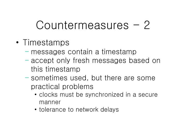 Countermeasures - 2