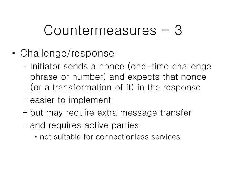 Countermeasures - 3