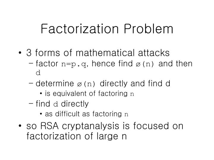 Factorization Problem