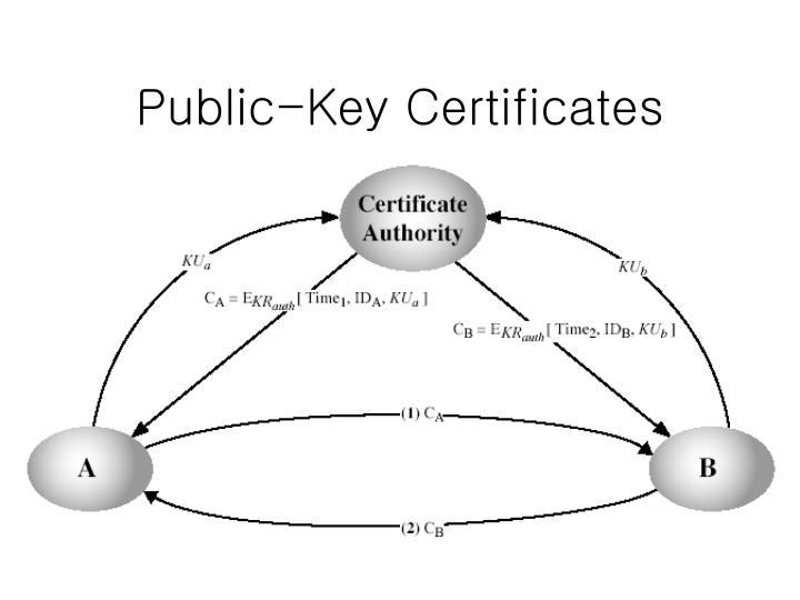 Public-Key Certificates