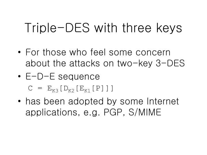 Triple-DES with three keys