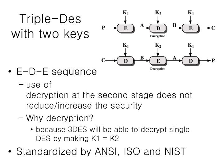 Triple-Des with two keys