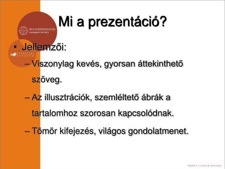 Mi a prezentáció?