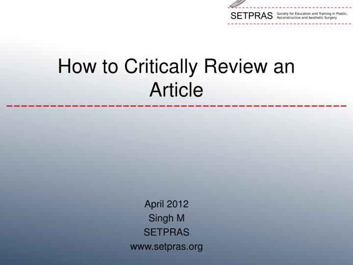 article review format