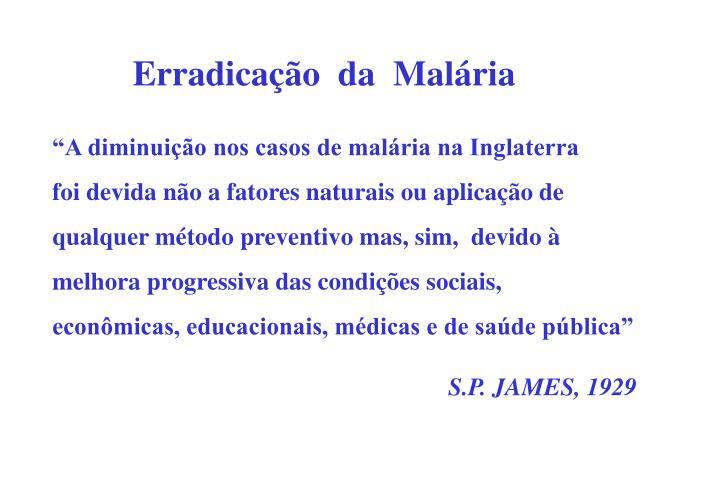 Erradicação  da  Malária