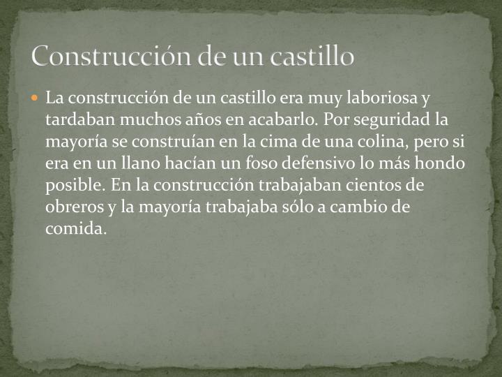 Construcción de un castillo