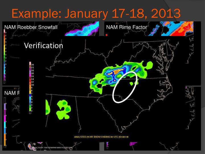 Example: January 17-18, 2013