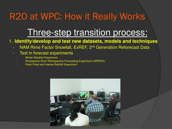 R2O at WPC: How it Really Works