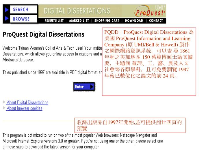 Digital Dissertations Online