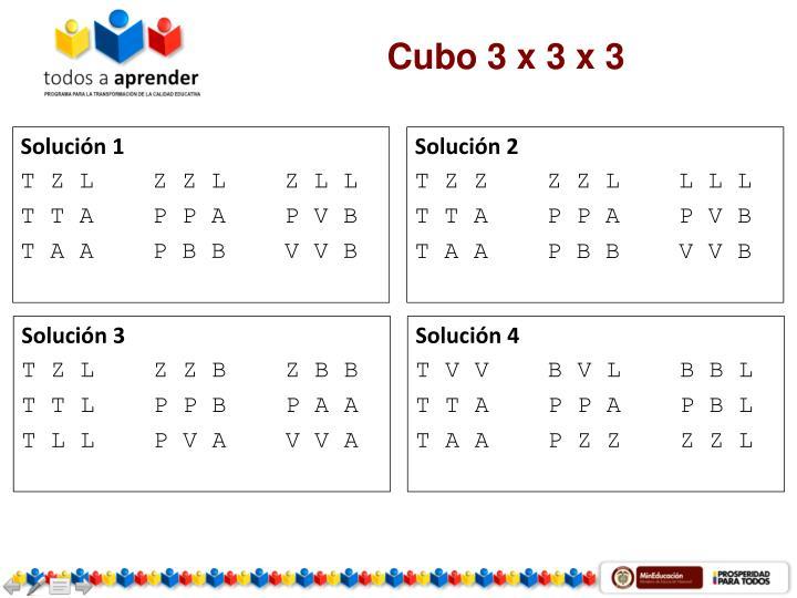 Cubo 3 x 3 x 3