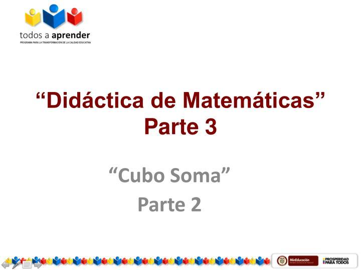 """Didáctica de Matemáticas"""
