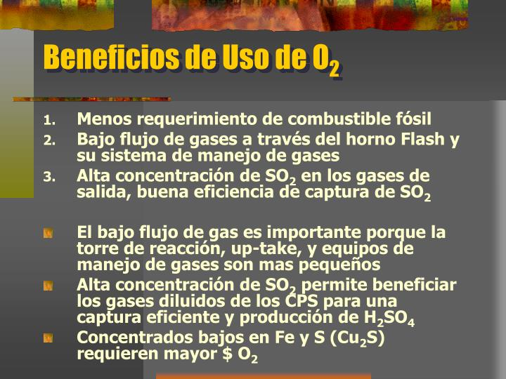 Beneficios de Uso de O