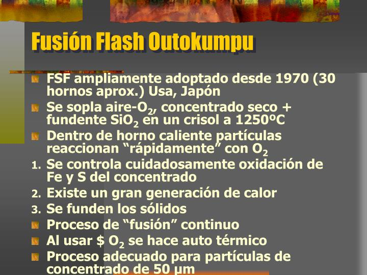 Fusión Flash Outokumpu