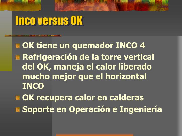 Inco versus OK
