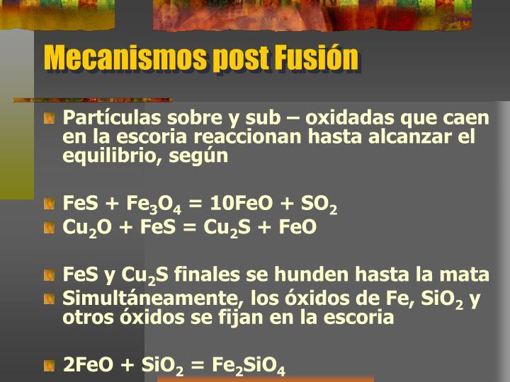 Mecanismos post Fusión