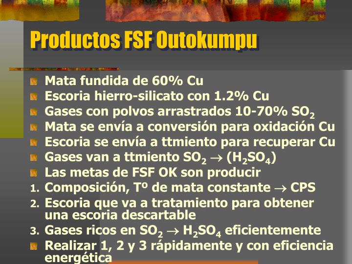 Productos FSF Outokumpu