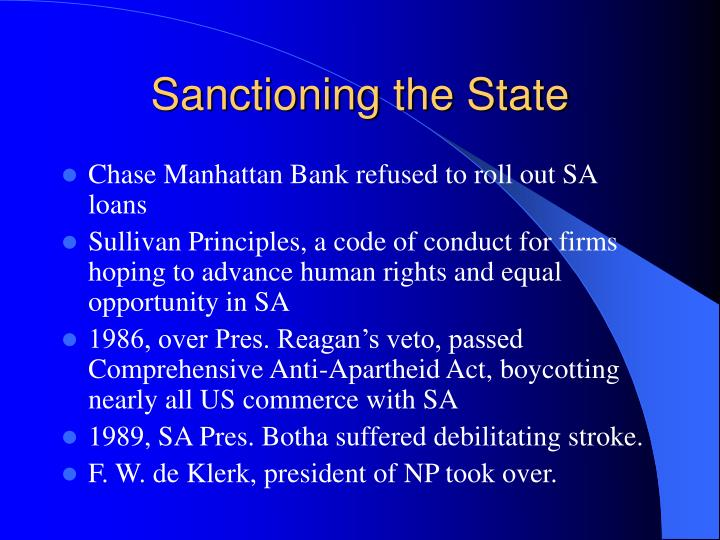Sanctioning the State
