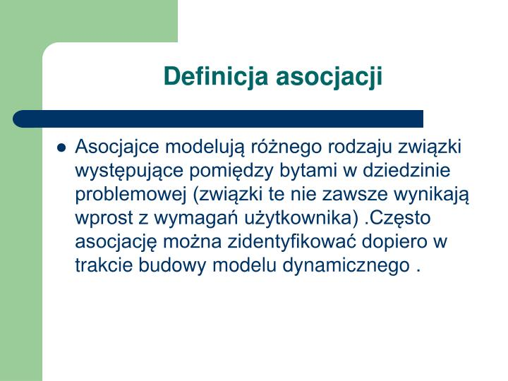 Definicja asocjacji