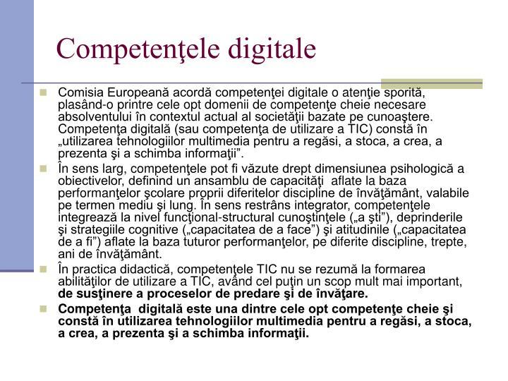 Competenţele digitale