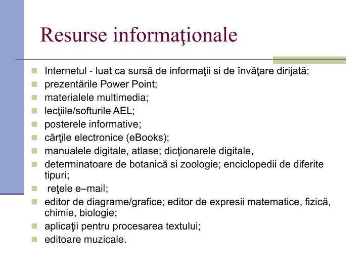 Resurse informaţionale