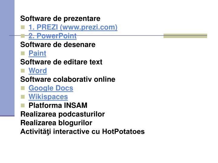Software de prezentare
