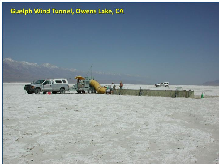 Guelph Wind Tunnel, Owens Lake, CA
