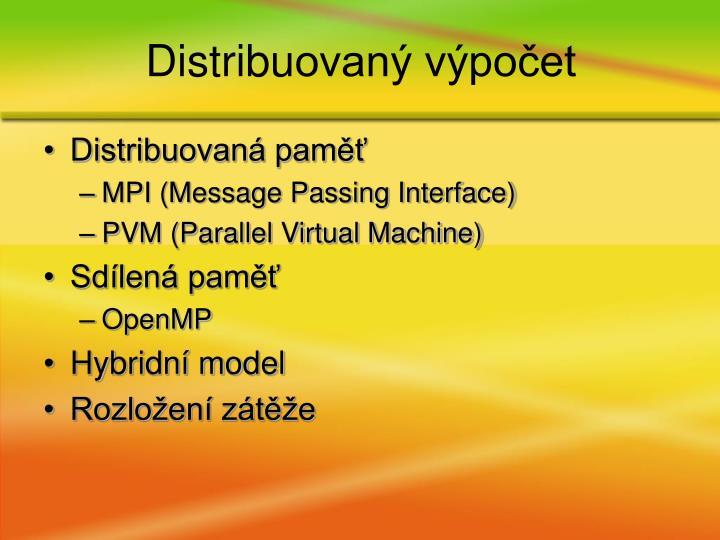 Distribuovaná paměť