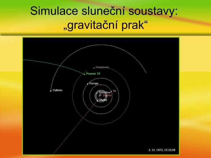 Simulace sluneční soustavy: