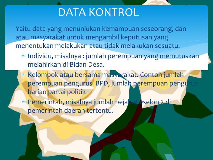 DATA KONTROL