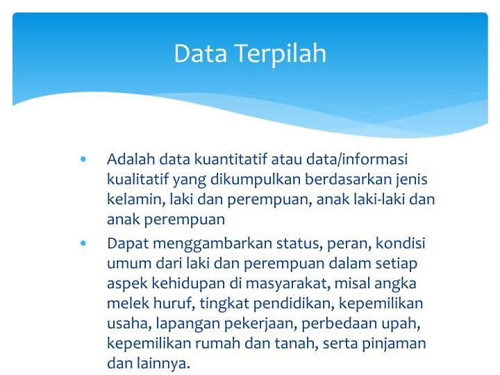 Data Terpilah