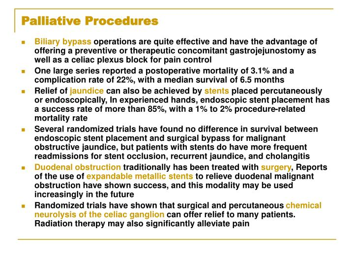 Palliative Procedures