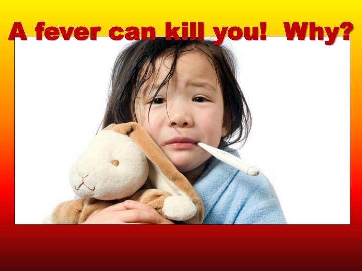 A fever can kill you!  Why?