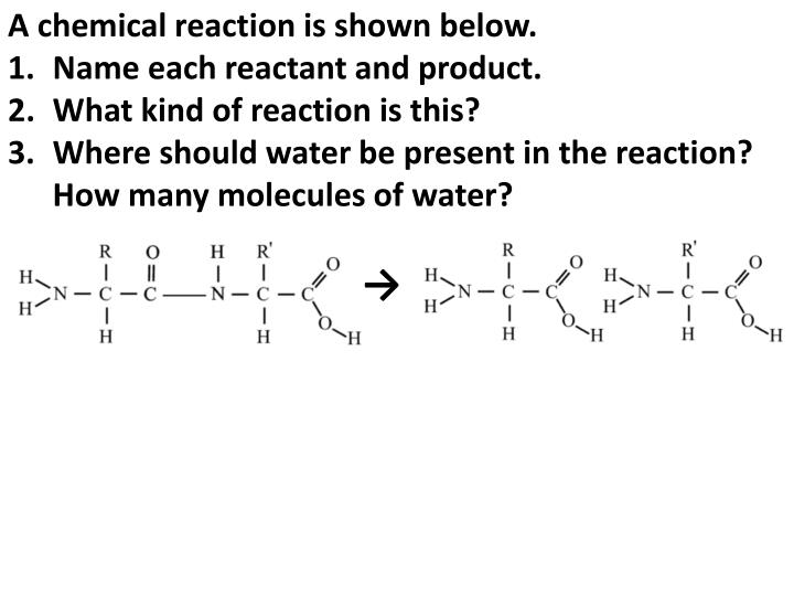 A chemical reaction is shown below.