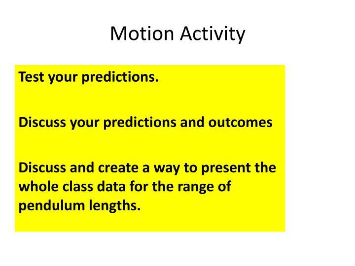 Motion Activity