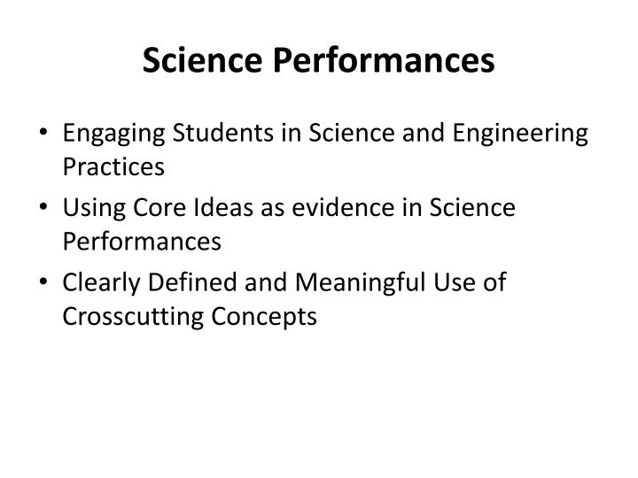 Science Performances
