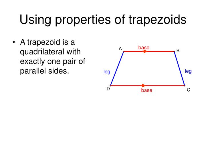 Using properties of trapezoids