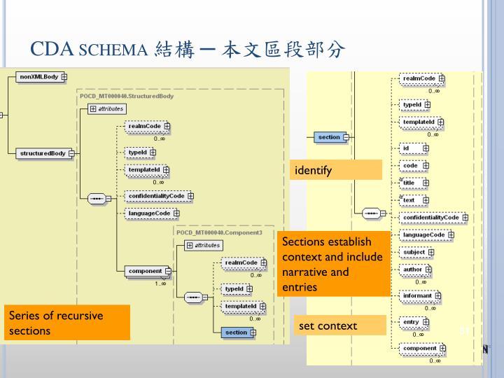 CDA schema