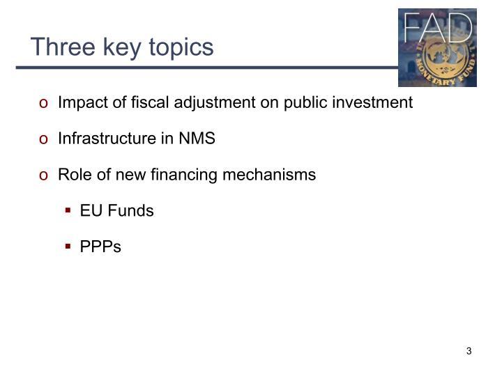 Three key topics