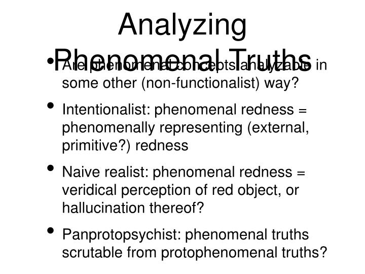 Analyzing Phenomenal Truths