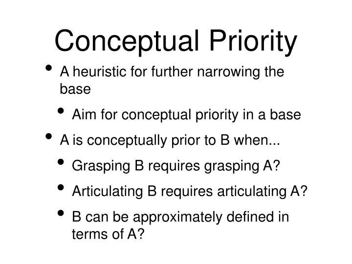 Conceptual Priority