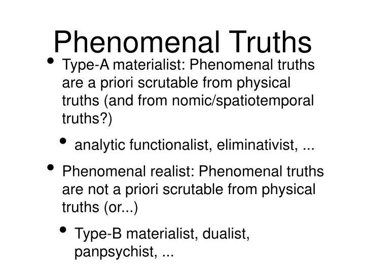Phenomenal Truths