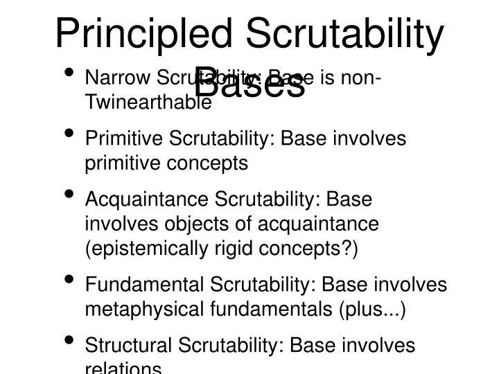 Principled Scrutability Bases