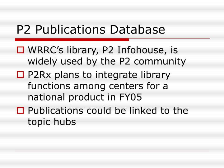 P2 Publications Database