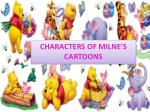 characters of milne s cartoons