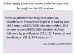 italian registry lombardy veneto emilia romagna and tuscany from the igp database